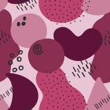 Memphis Style Seamless Pattern Berry royaltyfri illustrationer