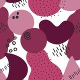 Memphis Style Seamless Pattern Berry färgar på genomskinlig bakgrund vektor illustrationer