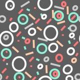 Memphis style seamless pattern set. vector modern illustration Stock Images