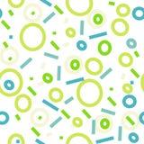 Memphis style seamless pattern set. vector modern illustration Stock Photography