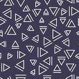 Memphis style triangle seamless pattern Royalty Free Stock Photos