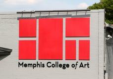 Memphis szkoła wyższa sztuka sztandar Zdjęcia Royalty Free