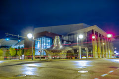 Memphis tennessee city streets at night Royalty Free Stock Photo