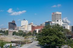 Memphis Tennessee Skyline Foto de Stock