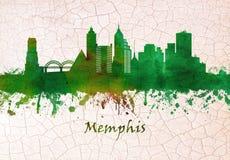 Memphis Tennessee Skyline ilustração royalty free