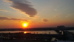 Memphis Tennessee Sunset Stockfotos