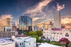 Memphis, Tennessee, USA. Downtown city skyline at dusk stock image