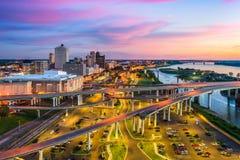 Memphis Tennessee USA. Memphis, Tennessee, USA downtown skyline at dusk Royalty Free Stock Image