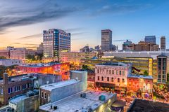 Memphis, Tennessee, USA. Downtown skyline royalty free stock images