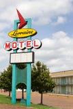 Det Lorraine motell undertecknar royaltyfri bild