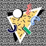 Memphis 80th sammansättning royaltyfri illustrationer