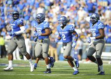 Memphis Tigers players celebrate victory Royalty Free Stock Photography
