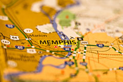 Memphis tn terenu mapy fotografia Obraz Stock