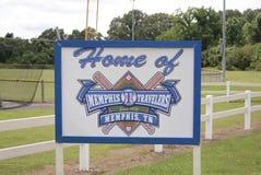 Memphis Travelers Baseball Team fotografía de archivo libre de regalías