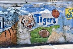 Memphis University Fresco Wall Mural Memphis, TN stock foto's