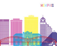 Memphis V2 skyline pop Royalty Free Stock Image