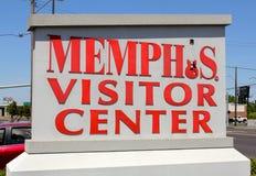 Memphis Visitor Center Sign en Memphis Welcome Center Imagen de archivo