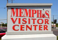 Memphis Visitor Center Sign at the Memphis Welcome Center Stock Image