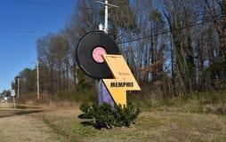 Memphis Welcome Roadside Marker fotografering för bildbyråer