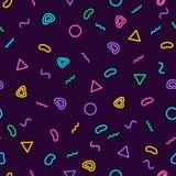 Memphis wzoru 80 ` s-90 ` s bezszwowy styl Modny Memphis styl kolorowe geometrycznego tła Modnisia styl kolorowy Fotografia Royalty Free