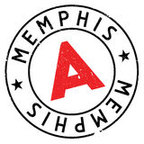 Memphis znaczka gumy grunge Fotografia Stock