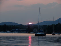 Memphremagog Lake at sunset Royalty Free Stock Photos