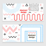 Mempis banner set, color. Hipster design, trendy style Royalty Free Stock Images