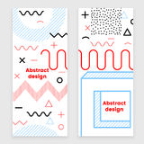Mempis banner set, color. Hipster design, trendy style Stock Photography