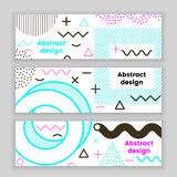 Mempis banner set, color. Hipster design, trendy style Royalty Free Stock Image
