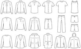 Men�s clothes vector illustrations Stock Images