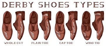 Men's derby shoes Royalty Free Stock Photo