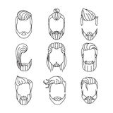 Men's hairstyles Royalty Free Stock Photography