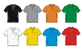 Men's polo-skjorta mallar Arkivbild