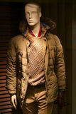 Men's winter jacket on mannequin Stock Photography
