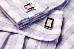 Men�s shirt with cufflinks Royalty Free Stock Photo