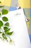 Menú Imagen de archivo libre de regalías