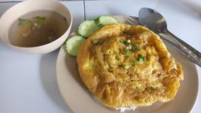 Menú asombroso del huevo tailandia Imagen de archivo libre de regalías