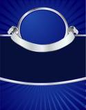 Menú azul y de plata Foto de archivo libre de regalías