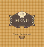 Menú con cocineros Imagenes de archivo