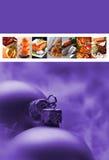 Menú de Christmast Imagen de archivo libre de regalías