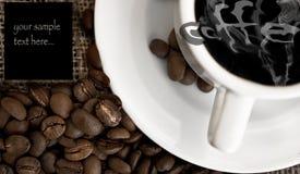 Menú de Coffe fotos de archivo libres de regalías