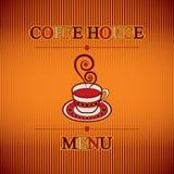 Menú de Coffe Foto de archivo