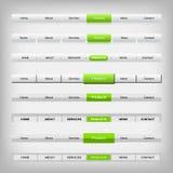 Menú de exploración metálico del web Imagen de archivo