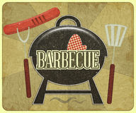 Menú de la barbacoa Foto de archivo libre de regalías
