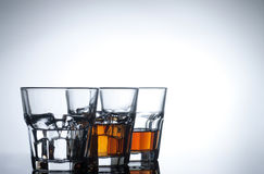 Menú de la bebida del alcohol Imagenes de archivo