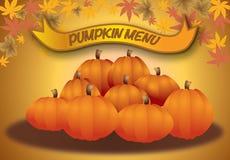 Menú de la calabaza, menú del otoño Fotos de archivo