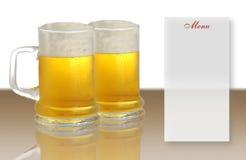 Menú de la cerveza Imagen de archivo libre de regalías