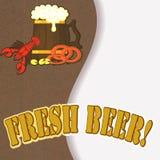 Menú de la cerveza Fotografía de archivo libre de regalías