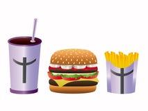 Menú de la hamburguesa Imagen de archivo