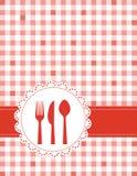 Menú de la invitación de la cena Foto de archivo libre de regalías